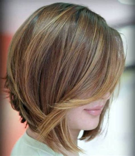 chocolate hair color with highlights for angled bobs 100 mind blowing short hairstyles for fine hair