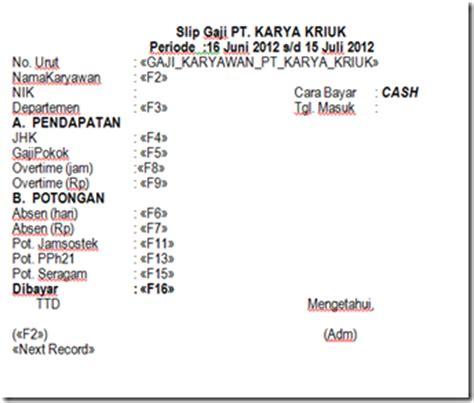 contoh slip gaji format pdf contoh slip gaji ms word cable tos