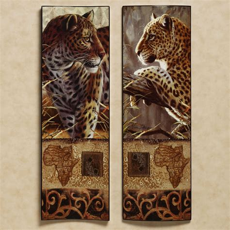 Leopard Decorations by Leopard Wall 5 Scenery Orange Autumn Canvas