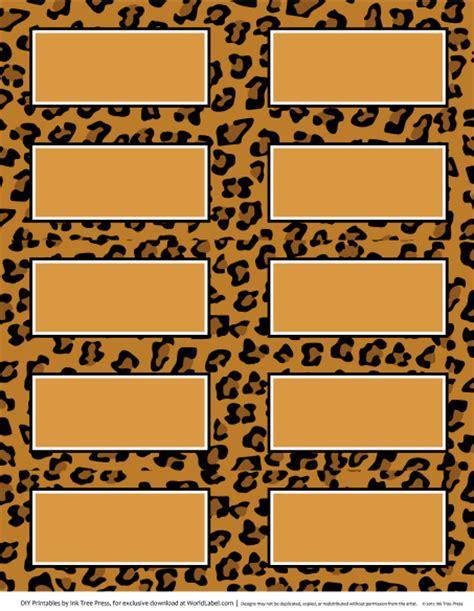 free printable zebra print name tags labels with wild cat prints zebra worldlabel blog