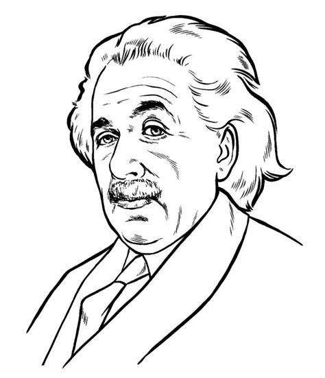 albert einstein cartoon drawing easy sketch coloring page