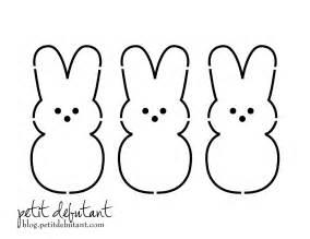 Easter Bunny Templates Printable Free by Peep Free Printable Pattern Familycorner Forums