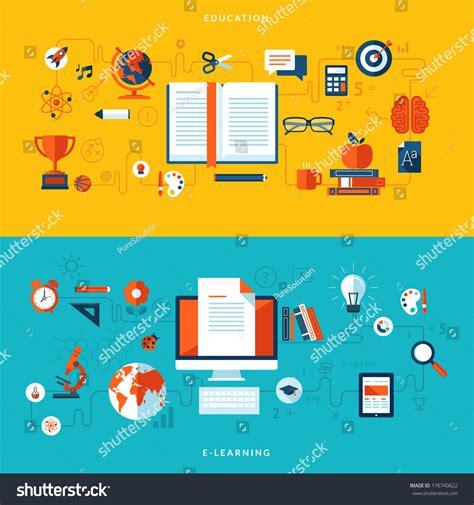 online education illustration flat design illustration flat design vector illustration concepts education stock