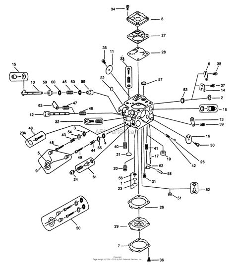 walbro carb diagram walbro carburetor wj 65 parts diagram for wj 65 parts list