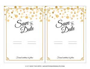 Save This Date Template modern diy save the date free printable