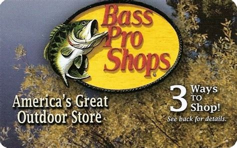 Bass Pro Shop Gift Card Locations - retail