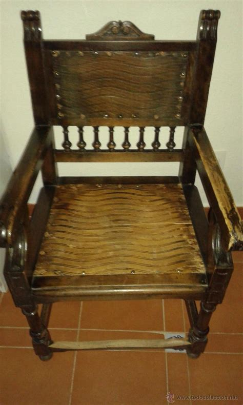 sillon antiguo de madera  restaurar comprar sillones antiguos en todocoleccion