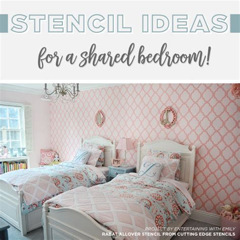 wall stencils for bedrooms stencil ideas for a shared bedroom 171 stencil stories