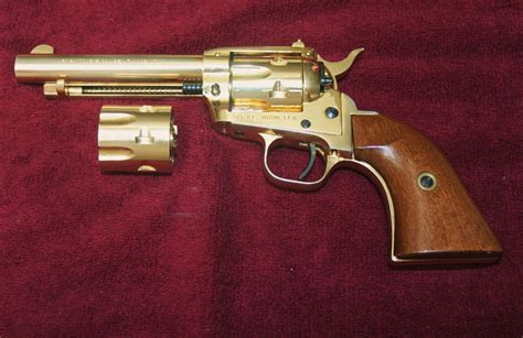 Gold Gun L by Yellow Of 22 L R Gold Plated Revolver
