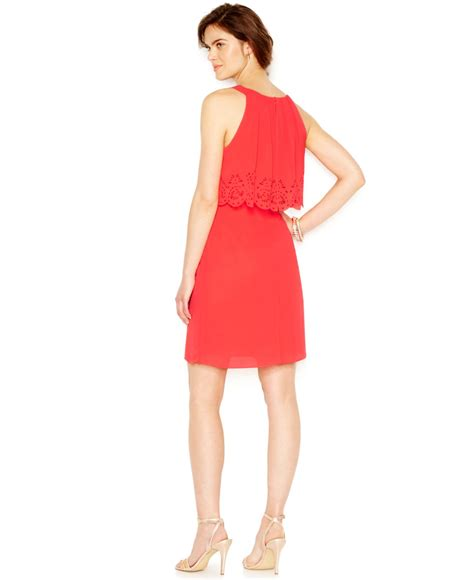 Cut In A Line Dress sleeveless laser cut popover a line dress