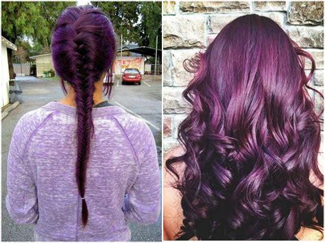 purple burgundy hair color 60 burgundy hair color ideas maroon purple plum