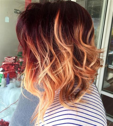 red to blonde ombre bob 25 best ideas about copper ombre on pinterest red