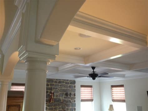 mki custom trimwork and painting coffered ceilings