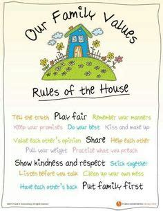 printable house rules chart 1000 images about house ideas on pinterest house rules