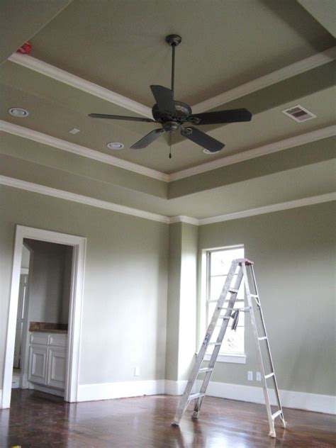ceiling fan crown molding typical crown moulding detail in a master bedroom with a