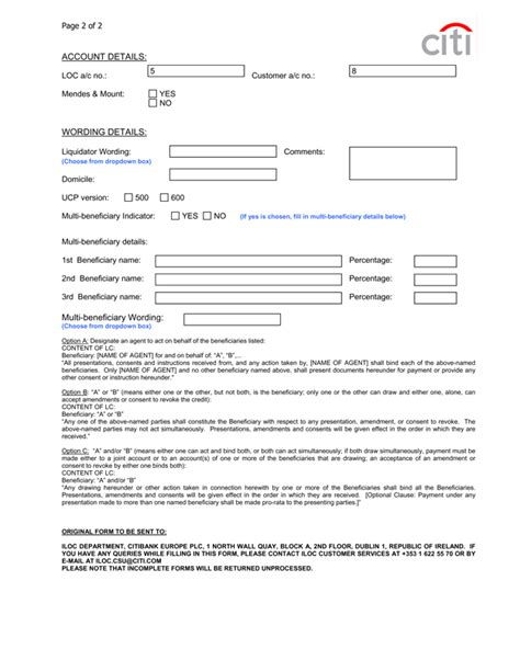 Issuance Letter Of Credit Application Format For Letter Of Credit Xls Lc Application Form Xls