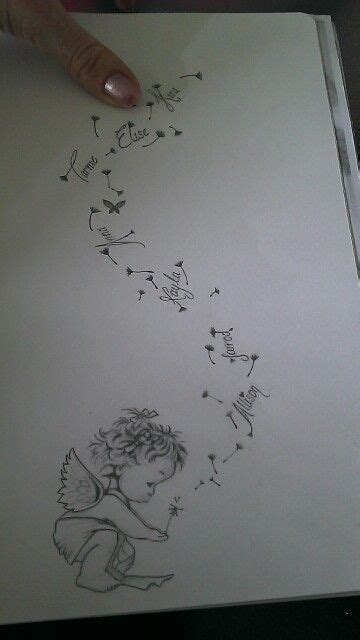 tattoos names designs your own kims lil representing a deceased baby blowing