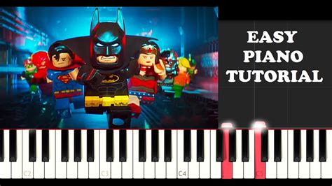 lego keyboard tutorial the lego batman movie the babs signal easy piano