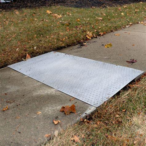 replacing sidewalk section custom sidewalk repair kit handir