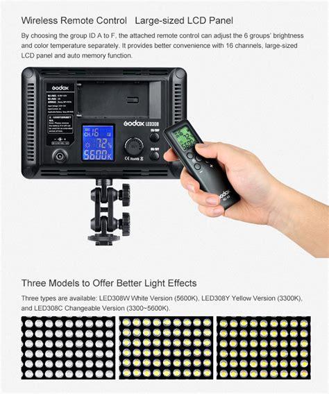 Godox Ledm32 Led Light Built In Lithium Battery Adjustable Bright Port godox led light led308c batteries sold separately