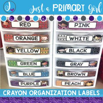 Just A Primary Girl Teaching Resources Teachers Pay Teachers Sterilite Drawer Label Template