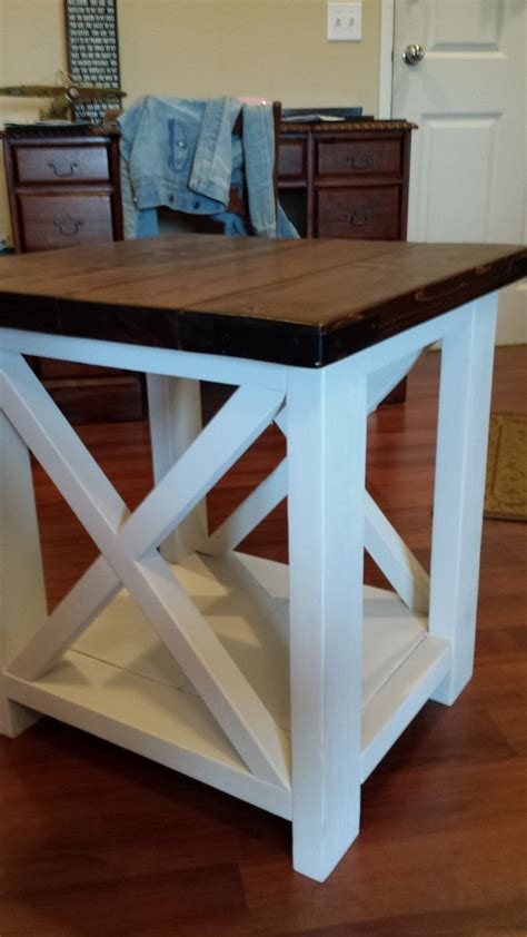 rustic  coffee   table ana white
