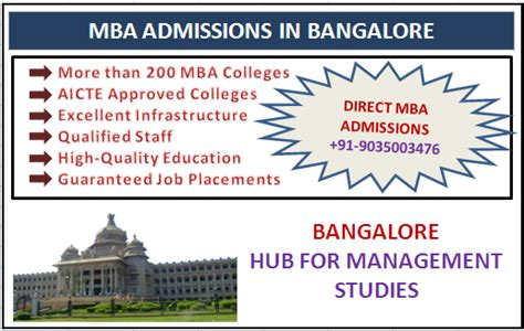Mba In Bangalore by Mba Admission In Bangalore Destination For Mba Program