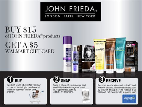 Walmart Gift Card Receipt - john frieda walmart gift card reward tpg rewards