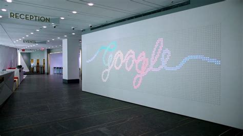 Small Office Interior Design Google Gives Away The Code For Its Giant Interactive Light