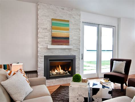 Living Room With Gas Fireplace Gas Insert Fireplaces Contemporary Living Room Other
