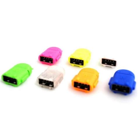 Murah Otg Smart Micro Usb android robot micro usb otg smart card reader connection kit pink jakartanotebook