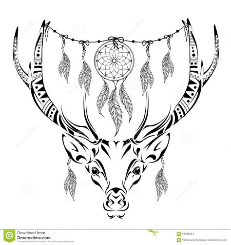 coloring pages for adults deer magic horned deer for anti stress