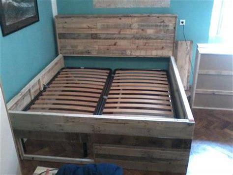 pallet bed frame ideas diy pallet wood bed frame ideas pallets designs