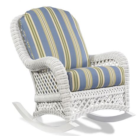 Vintage Patio Decoration with Wicker Rocking Chair Cushion