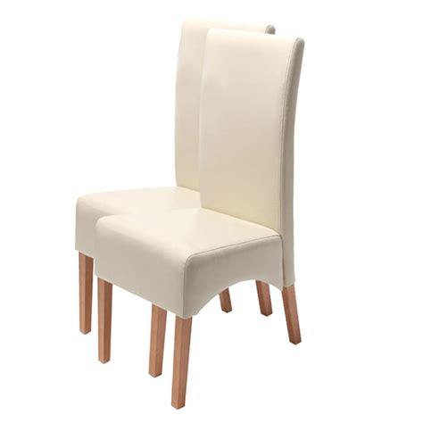 stuhl leder 2x esszimmerstuhl lehnstuhl stuhl leder creme