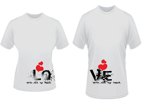 Customized T Shirts For Couples Teesntell By Prezentsdc
