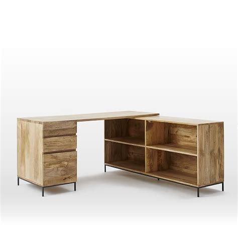 industrial modular desk set box file bookcase west elm