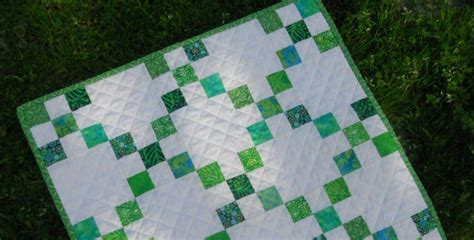 Chain Quilt Pattern Free by This Mini Single Chain Quilt Is Fresh And