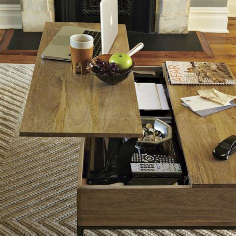 Rustic Storage Coffee Table Lift Up Table On Lift Top Coffee Table Coffee Tables And Convertible Coffee Table