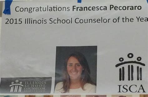illinois school counselor association the charger pecoraro wins school counselor of the year award