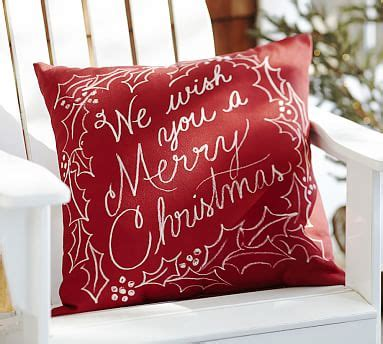 merry christmas indooroutdoor pillow pottery barn
