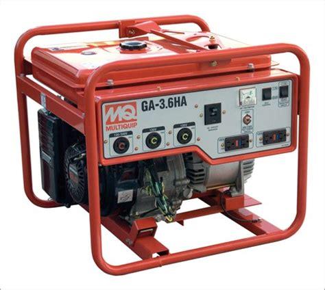 Genset Multi Equipment generator multi quip 3 6kw 8hr run 5gal gas