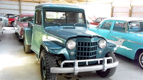 old truck jeep 1951 jeep willys pick up four wheel drive vintage 4x4