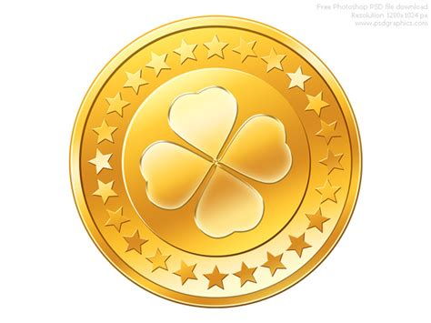 psd gold coin icon psdgraphics