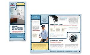 plumbing services brochure template word amp publisher