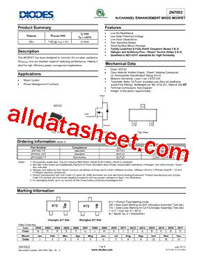 diodes inc b140 13 f 2n7002 13 f datasheet pdf diodes incorporated