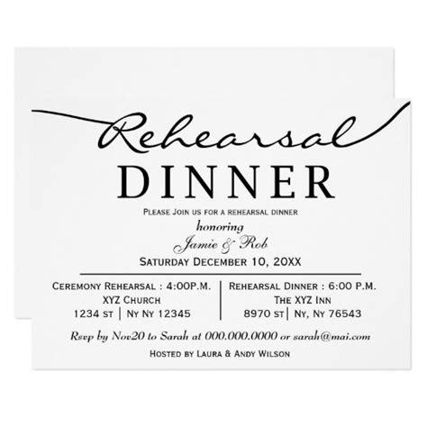 rehearsal dinner place card template black white script rehearsal dinner invite