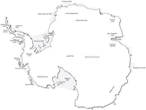 antarctica map with country names and capitals antarctica black white map in adobe illustrator vector