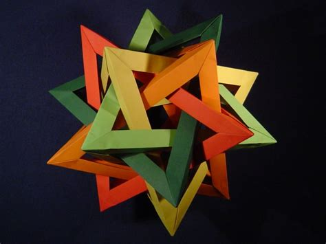 Origami Tetrahedron - how to make a post it note dodecahedron learnuselesstalents