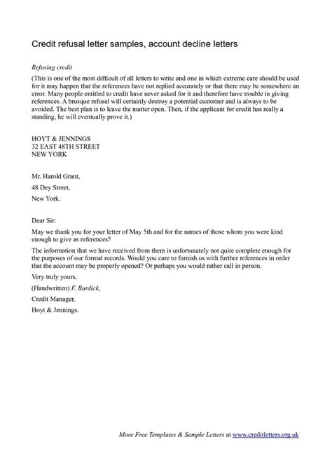 Finance Decline Letter Template 10 Best Images About Decline Letters On Other Letter Templates And